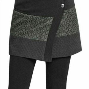 CAbi Swathe Wrap Black Mini Skirt, Medium
